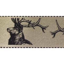 Ruban stags natural 25mm - 101