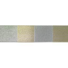 Ruban cross hatch argent 25mm - 101