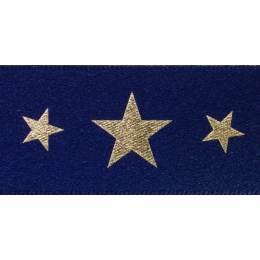 Ruban starlight navy/or 25mm - 101