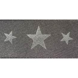 Ruban starlight smoked grey/argent 25mm - 101
