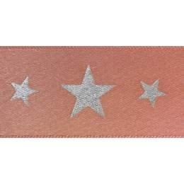 Ruban starlight rose or/argent 25mm - 101