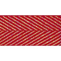 Ruban zigzag red 15mm - 101