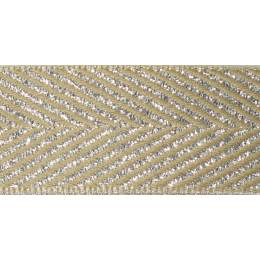 Ruban zigzag argent 15mm - 101