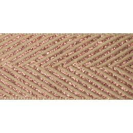 Ruban zigzag rose or 15mm - 101
