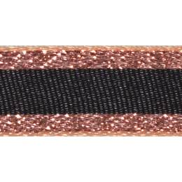 Ruban winter stripe rose or 10mm - 101