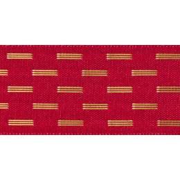 Ruban shimmer stitch red 15mm - 101