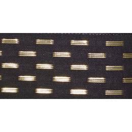 Ruban shimmer stitch graphite 15mm - 101