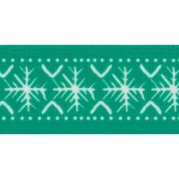Ruban scandi flakes green/blanc 25mm - 101
