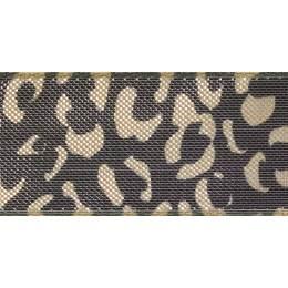 Ruban leopard spots or/black 2 25mm - 101