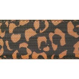 Ruban leopard spots copper/black25mm - 101