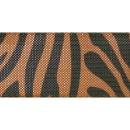 Ruban zebra stripe copper/black25mm - 101