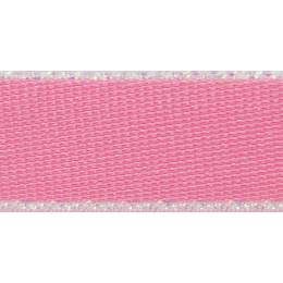 Ruban iridescent edge satin pink 5mm - 101