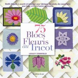 Blocs fleuris au tricot - 105