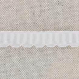 Bordure à festons 21mm blanc - 130