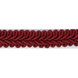 Galon ameublement rouge bordeau 12 mm - 136