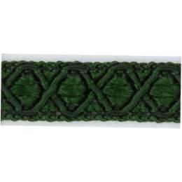 Galon ameublement vert foncé 12 mm - 136