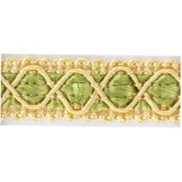 Galon ameublement beige/vert 12 mm - 136