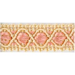Galon ameublement beige/rose 12 mm - 136