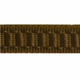 Galon cache clou passementerie marron - 136