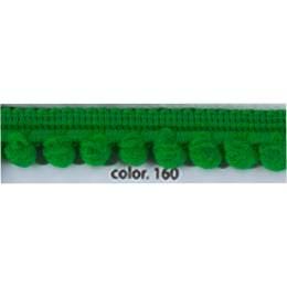 Galon pompon vert bouteille 12 mm
