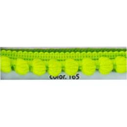 Galon pompon vert 12 mm - 136
