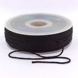 Cordon élastique super doux 2,5mm noir