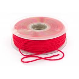 Cordon élastique super doux 2,5mm rouge