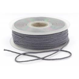 Cordon élastique super doux 2,5mm gris