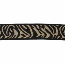 Elastique 2,5cm noir/or - 136