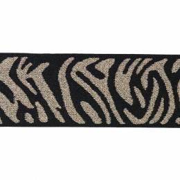 Elastique 4cm noir/or - 136