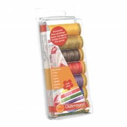 Set de fil à coudre coton 100m multicolore - 149
