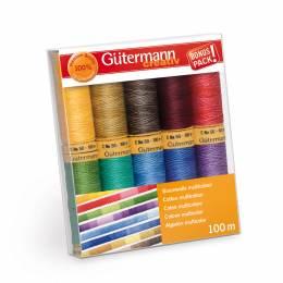 Coffret de fil coton 100m/10 multicolor - 149