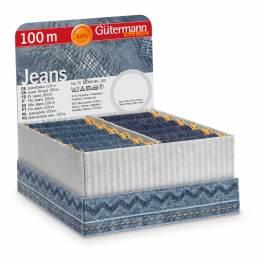 Coffret 36 bob 100m fil jeans en 2 coloris - 149