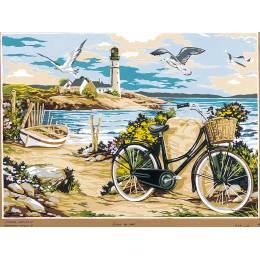 Canevas blanc vélo 37/51 - 150