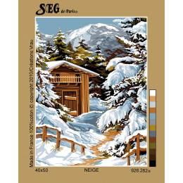 Canevas 40/50 neige - 150