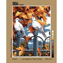 Canevas 40/50 pénélope antique automne fer forge - 150