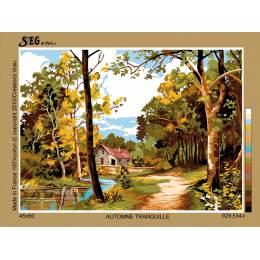 Canevas 45/60 antique automne tranquille - 150
