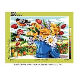 Canevas 45/60 antique jeu de couleur - 150