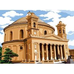 Canevas 45/60 antique Eglise de mosta - 150