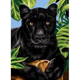 Canevas 45/60 antique panthere noire - 150