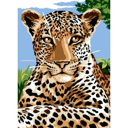 Canevas 45/60 antique Leopard - 150