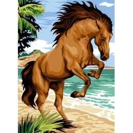 Canevas 45/60 antique cheval cabre - 150