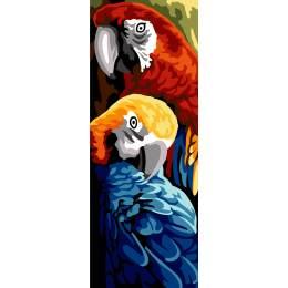 Canevas 25/60 antique perroquets - 150