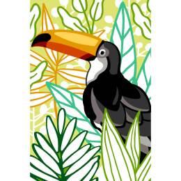 Canevas 30/40 la planche toucan - 150
