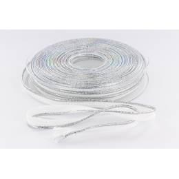 Passepoil 10mm blanc/lurex argent - 158