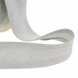Biais 25/7/7 mm gris clair chambray - 158