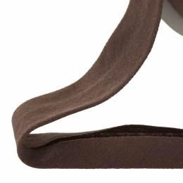 Biais jersey coton 40/20 marron - 158