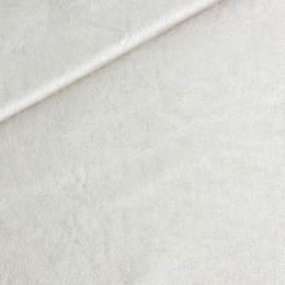 Coupon 50/30 simili cuir métallisé ivoire - 158