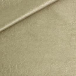 Coupon 50/30 simili cuir métallisé doré - 158