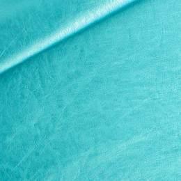 Coupon 50/30 simili cuir métallisé turquoise - 158
